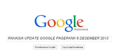 Update Google Pagerank Terbaru Desember 2013