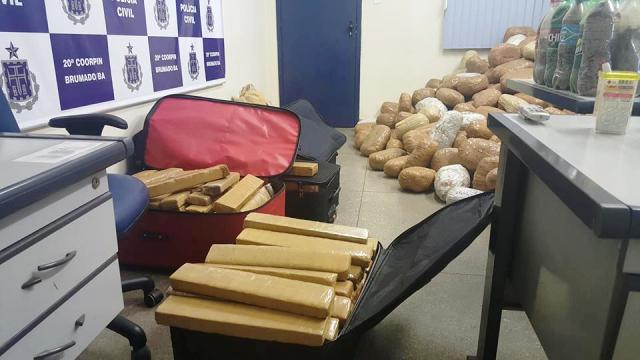 Polícia Civil incinera mais de uma tonelada de drogas em Brumado