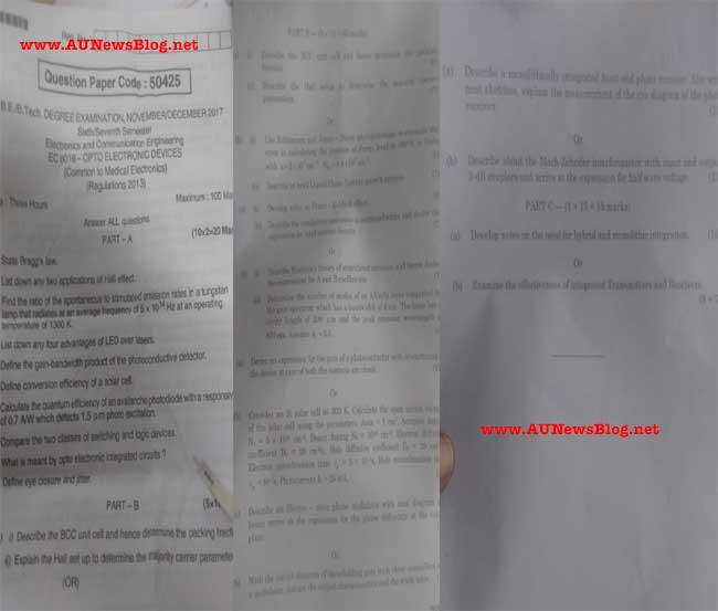 Anna University Re-Exam 2nd Nov 2018 exams to 28th Nov 2018 (Biggest Mistake of Anna University)