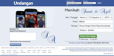 Download Desain Undangan Unik Facebook Format PSD dan CDR