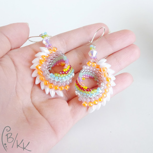 kolczyki beading cellini pióropusze | cellini beading earrings
