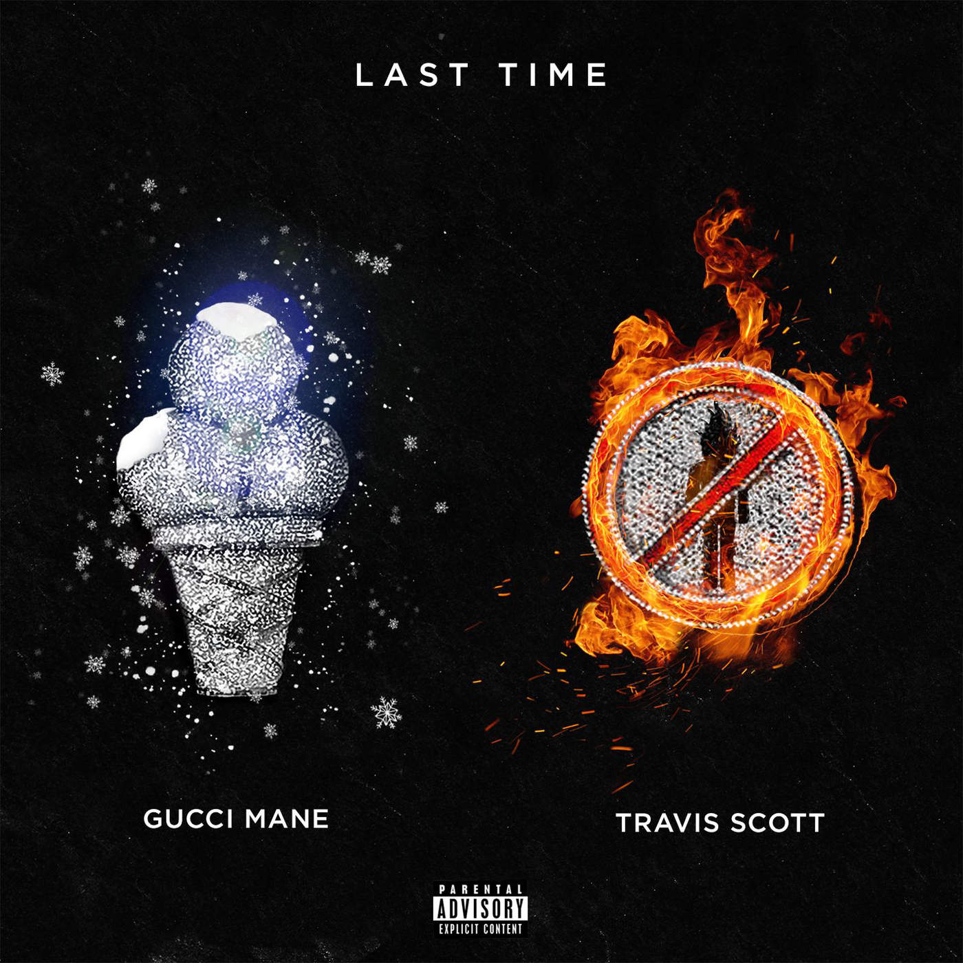 Gucci Mane - Last Time (feat. Travis Scott) - Single Cover