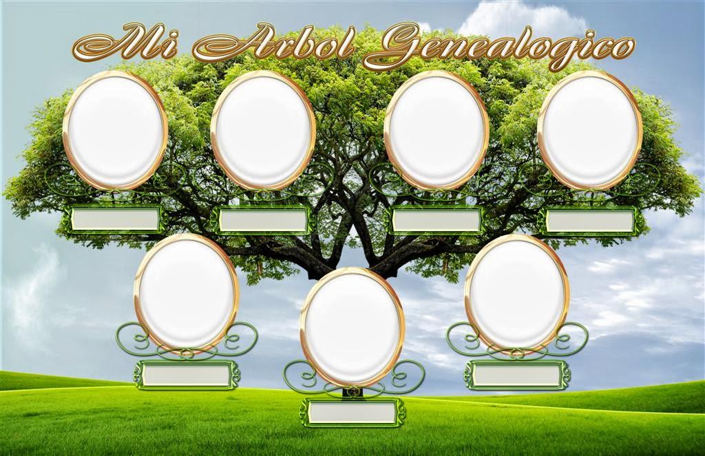 plantilla con fondo transparente para crear un árbol genealógico