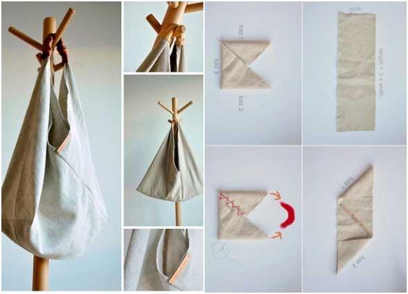bolsos triangulares, bolsas bento bag, manualidades enrhedando