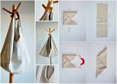 Bolsos de tela japoneses denominados origami Bento bag