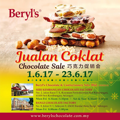 Jualan Coklat Beryl's Chocolate Sale Raya Discount Offer Promo