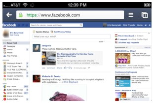 Facebook Desktop Site on iPhone