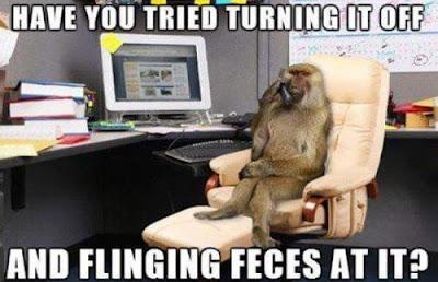 monkey computer helpline IT department