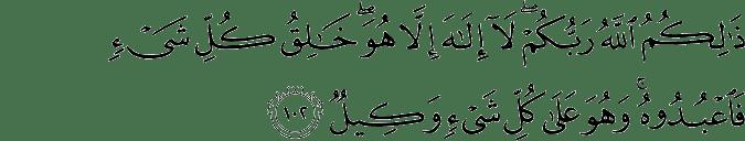 Surat Al-An'am Ayat 102