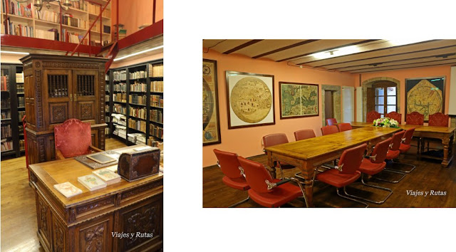 Interior del palacio de Valdes-Salas en Salas, Asturias