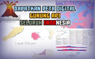 Dapatkan Peta Digital Geologi Gunung Api seluruh Indonesia Gratis