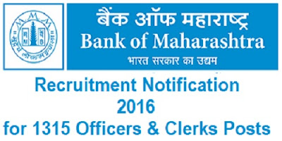 Bank of Maharashtra Recruitment 2016