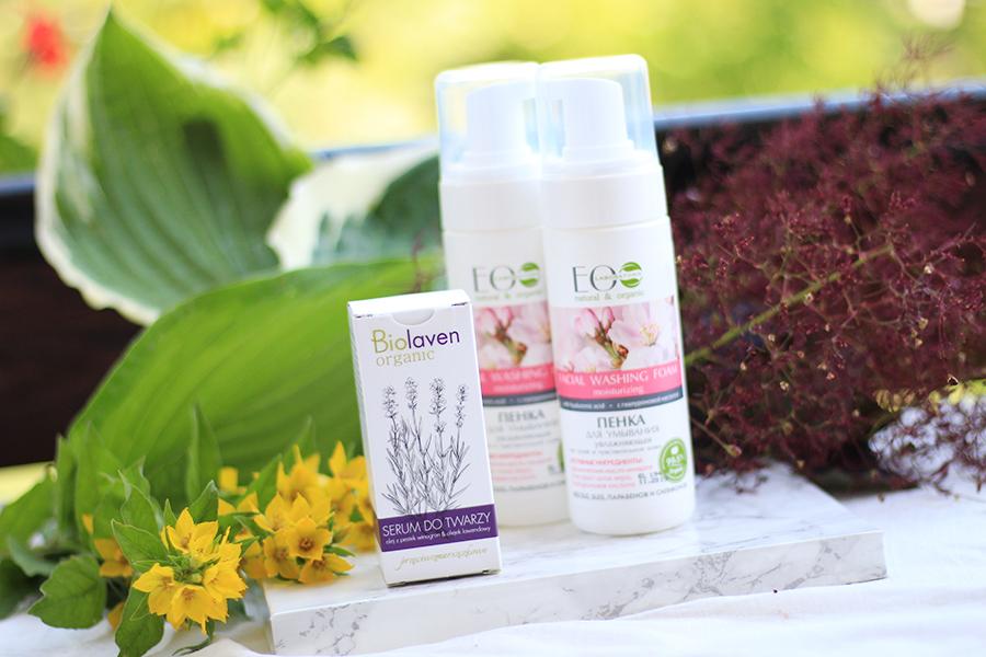 Kosmetyki do pielęgnacji twarzy - pianka EcoLab, serum Biolaven