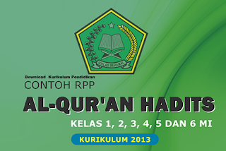 Download  Kurikulum Pendidikan RPP dan Silabus Mapel Qur'an Hadits KTSP SD/MI Kelas 1 sd 6 Semester 1 & 2
