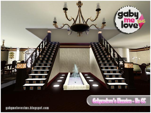 Gabymelove's Mansion |NO CC| ~ Lote Residencial, Sims 3. Entrada.