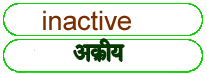 inactive meaning in HINDI