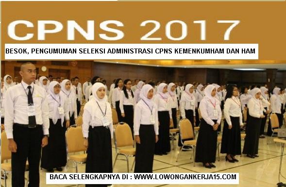 Pengumuman Seleksi administrasi CPNS