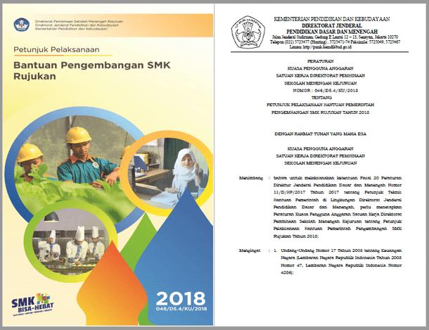 Juklak Bantuan Pengembangan SMK Rujukan Tahun 2018