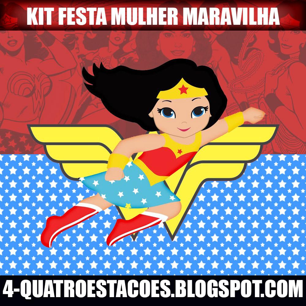 Quatro Estacoes Kit Festa Mulher Maravilha