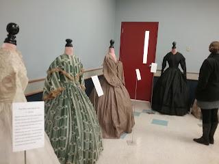 Original Victorian dresses at the 2018 Civilian Symposium.