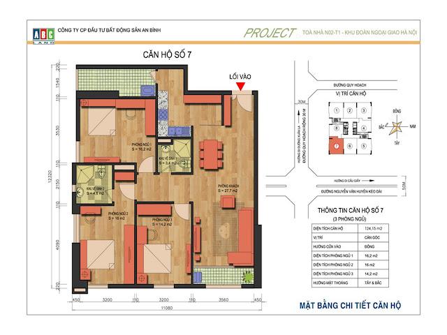 Thiết kế căn 07 và 03 tại chung cư An Bình Complex - N02T1 Ngoại Giao Đoàn