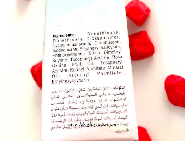 models own face base anti redness face primer kızarıklık önleyici yüz bazı içerik