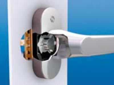 mechanizm klamki sekustik, klamka antywłamaniowa, klamka HOPPE,