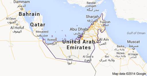 Peta Negara Uni Emirat Arab