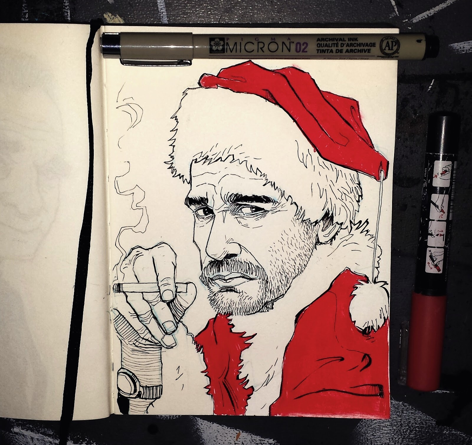 Bad Santa Illustration