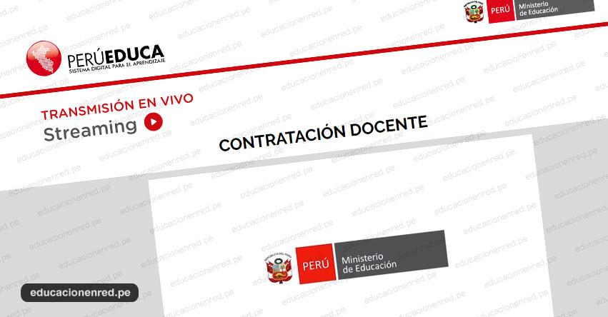 MINEDU explica detalles de la Contratación Docente 2020 [VIDEOCONFERENCIA - EN VIVO] www.minedu.gob.pe