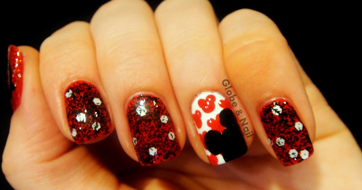 Globe & Nail: Mickey Mouse Nail Art