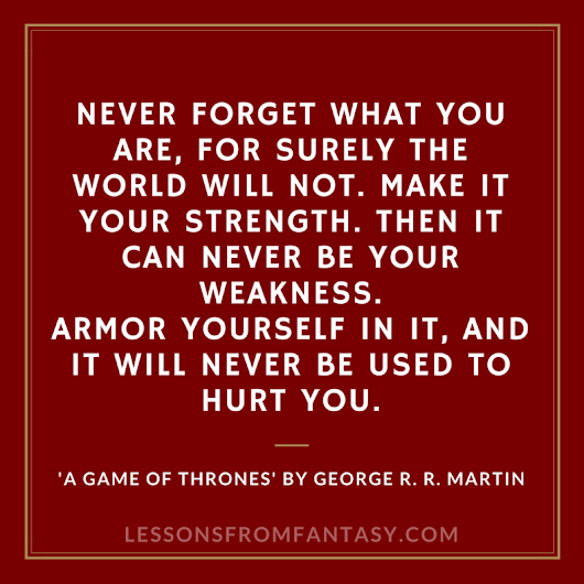 Lessons From Fantasy: Never forget what you are...