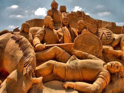 Escultura de arena principes