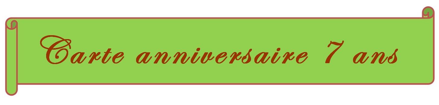 Carte Gratuite à Imprimer Carte Anniversaire 7 Ans à Imprimer