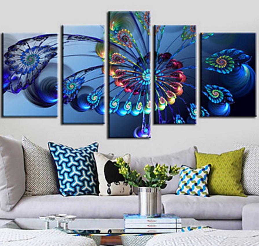 Im genes arte pinturas pinturas de flores al leo modernos - Cuadros minimalistas para sala ...