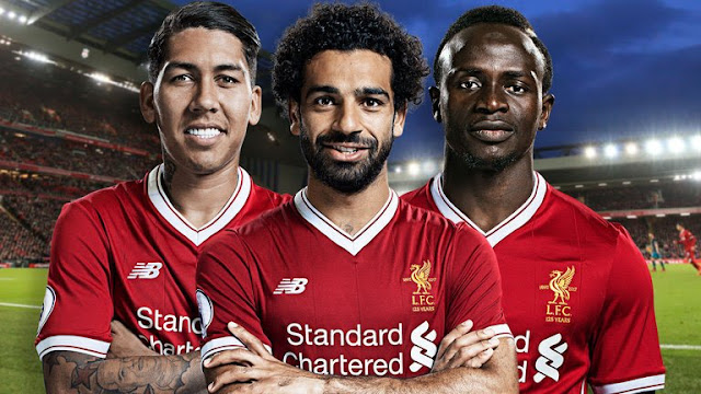Firmino, Sadio Mane And Mohamed Salah Liverpool FC