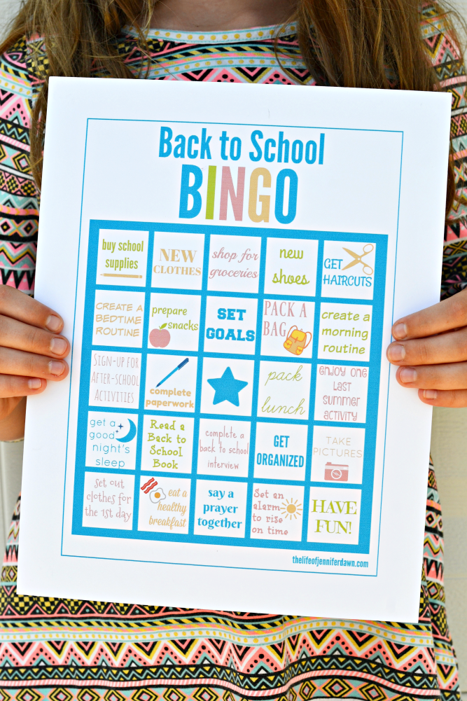 picture regarding Back to School Bingo Printable referred to as The Lifetime of Jennifer Sunrise: Printable: Again toward College BINGO