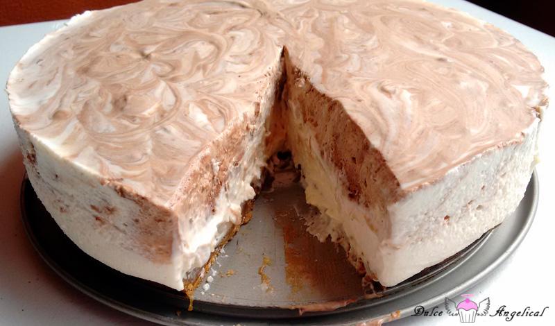 Cheesecake de crema irlandesa sin horno fácil