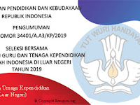Pendaftaran Penerimaan Guru dan Tenaga Kependidikan SILN Tahun 2019