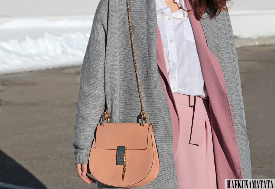 Topshop Duster Coat, Chloe Drew Bag, Long Coat Blogger Style