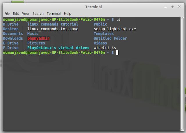 show list directories using linux terminal