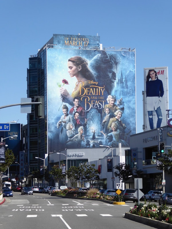 Giant Beauty and the Beast film billboard