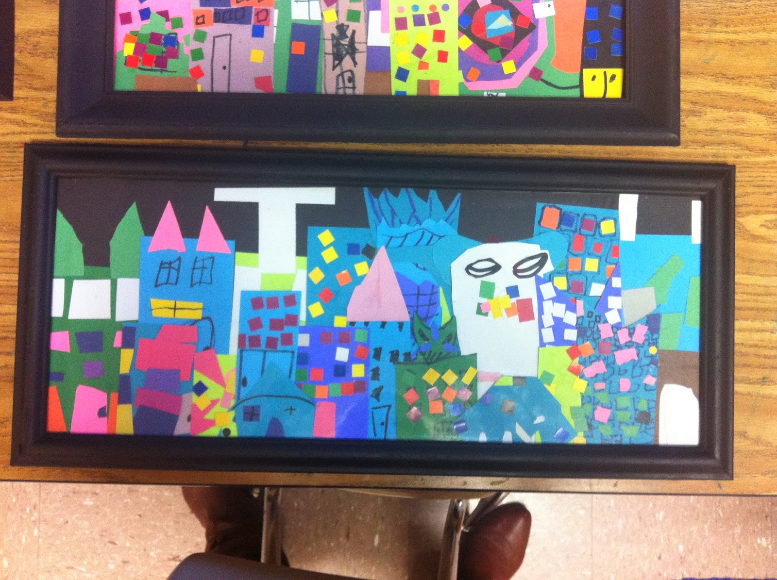 Chumleyscobey Art Room Collaborative Cityscape Collage By