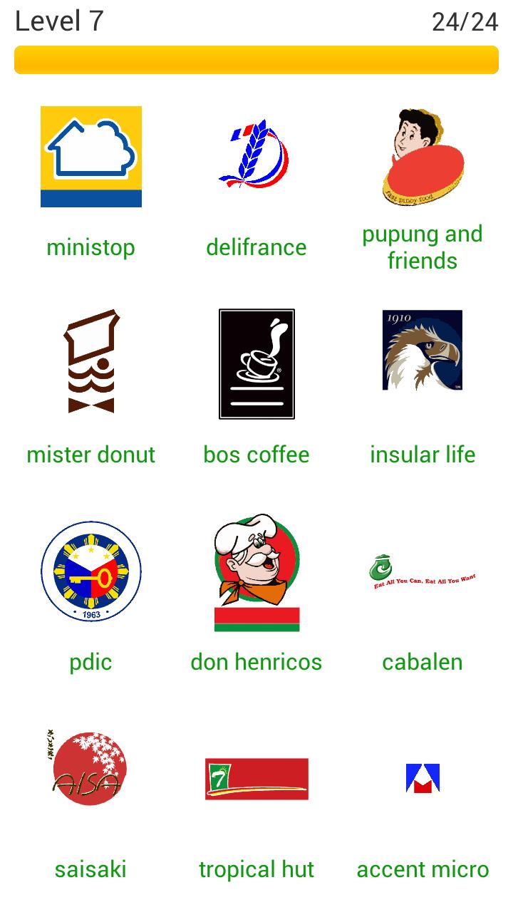 Word Quiz Geek: Logo Quiz Philippines Level 7