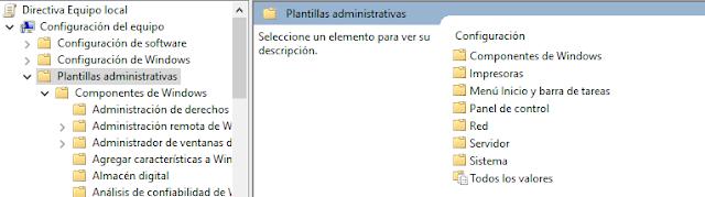 Componentes de windows