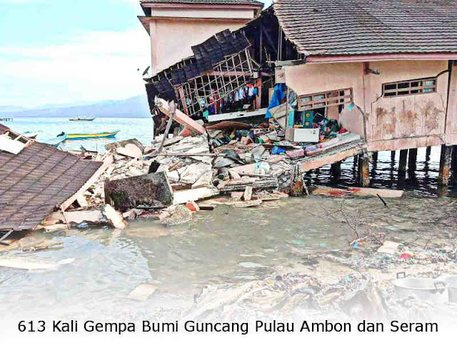 613 Kali Gempa Bumi Guncang Pulau Ambon dan Seram