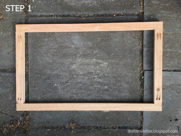 how to build a wooden door mat