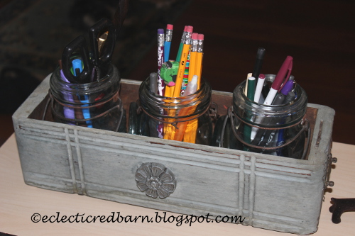 Sewing drawer as pencil and pen holder