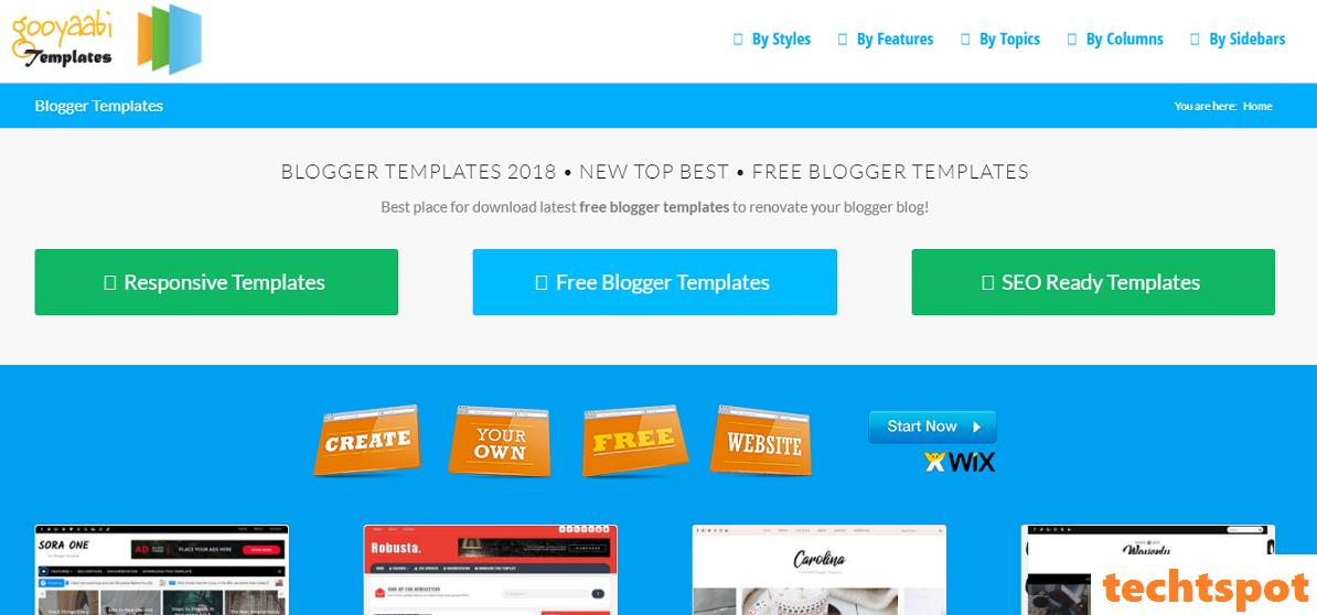 techtspot best free responsive blogger templates
