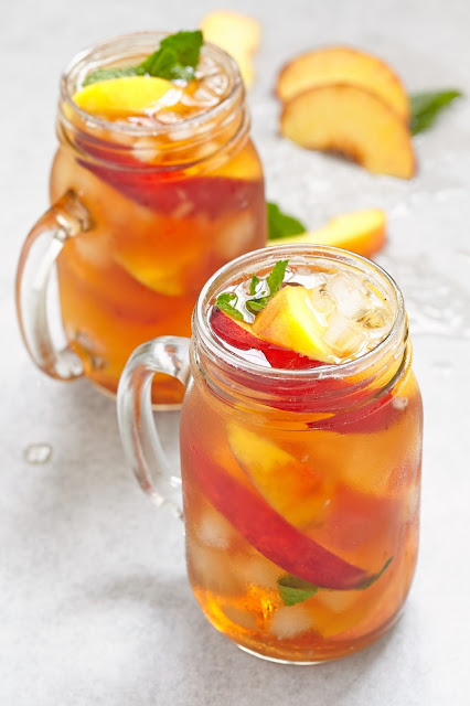 Iced Peach Mint Green Tea-